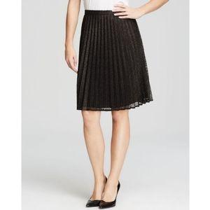 Calvin Klein Pleated Skirt in metallic black/gold